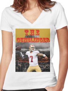 KAEP THE GUNSLINGER Women's Fitted V-Neck T-Shirt