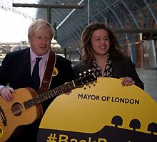 Boris Johnson and Luke Friend back busking by Keith Larby