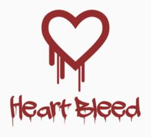 Heart Bleed Shirt - With Blood Dripping Letters by ibadishi