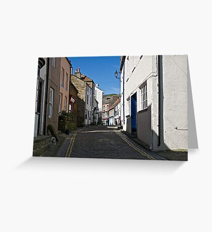 Walking through the past. Greeting Card
