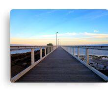 Wellington Point Pier .... Wellington Point, Qld  Canvas Print