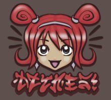 Kawaii Face -Red One Piece - Short Sleeve