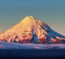 Perfect pastel snowy volcano by dovelupo