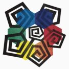 Shapes and Colors Geometric Abstract T Shirt by Denis Marsili - DDTK
