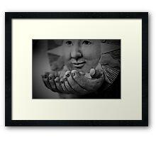 ~ open handed ~ Framed Print
