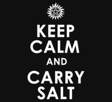 Supernatural Keep Calm And Carry Salt Kids Clothes