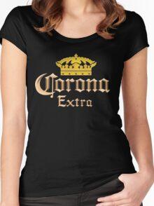 Vintage Corona Beer Women's Fitted Scoop T-Shirt