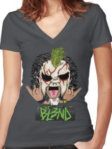 DJ BL3ND - DJ BLEND Women's Fitted V-Neck T-Shirt