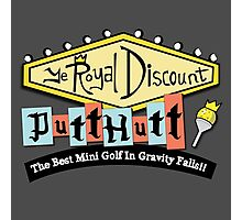Gravity Falls Mini Golf - Slate Gray Photographic Print