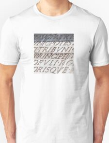 Graphic carved serif type Unisex T-Shirt