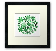 Paper watercolour green flowers Framed Print