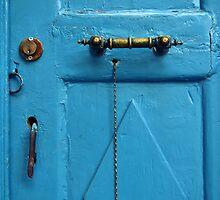 blue door & door knob by gzmguvenc89