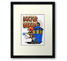 DOCTOR WHOODY Framed Print