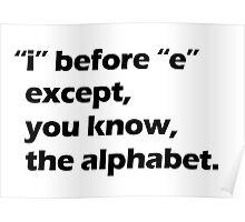 Grammar - Black Poster