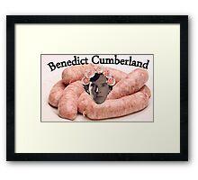 Benedict Cumberland from Sausagelock Framed Print