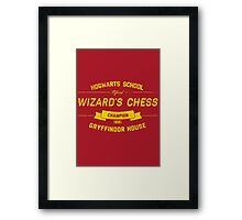 Hogwarts Wizard's Chess Champion — Gryffindor House Framed Print