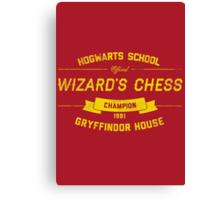Hogwarts Wizard's Chess Champion — Gryffindor House Canvas Print