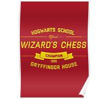 Hogwarts Wizard's Chess Champion — Gryffindor House Poster
