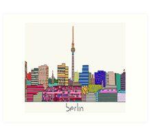 Berlin city skyline  Art Print