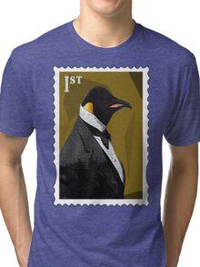 Old Timey Penguin Tri-blend T-Shirt