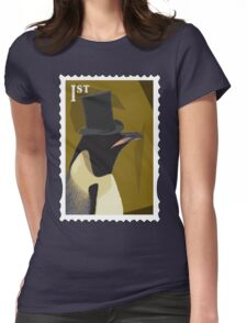 Top Hat Penguin Womens Fitted T-Shirt