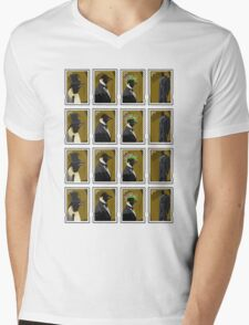 Penguin Stamps Mens V-Neck T-Shirt