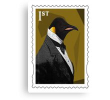 Old Timey Penguin Canvas Print