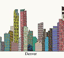 denver city skyline by bri-b