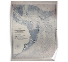 Civil War Maps 0255 Charleston Harbor and its approaches showing the positions of the Rebel batteries Poster