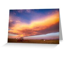 Turbo Charged Country Sky Greeting Card