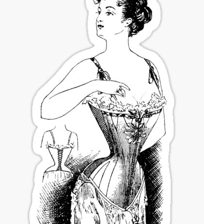 Elegant Edwardian Corset Tee Sticker