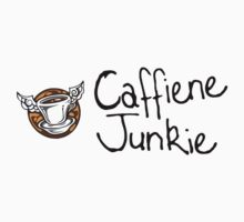 Caffiene junkie -black font by Oliver James