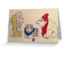 Underground Zoo Greeting Card