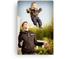Son and his daddy Canvas Print