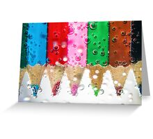 Coloured bubbles Greeting Card