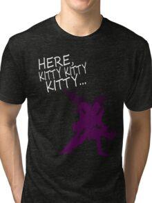 Here Kitty Tri-blend T-Shirt