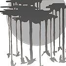 Flock Of Rain In Gloomy Grey by Roesbery