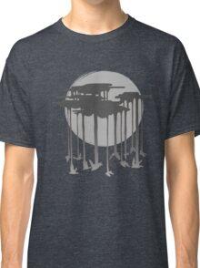 Flock Of Rain In Gloomy Grey Classic T-Shirt