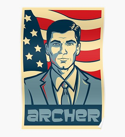american archer red white and blue Poster
