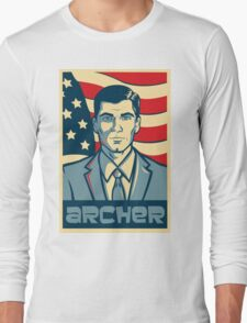 american archer red white and blue Long Sleeve T-Shirt