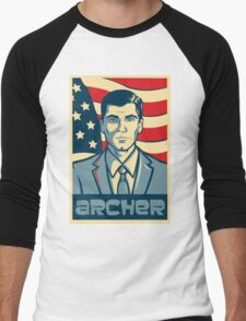 american archer red white and blue Men's Baseball ¾ T-Shirt