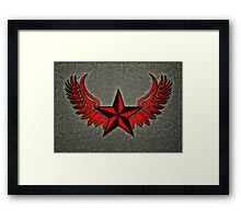 NAUTICAL STAR - Wings - Protection & Guidance SAILORS & TRAVELERS Framed Print