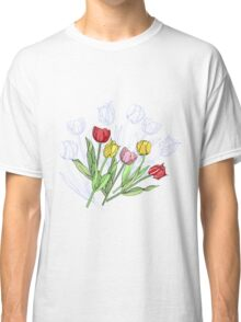 Bouquet with Red Yellow Tulips Classic T-Shirt