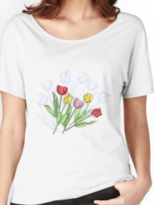 Bouquet with Red Yellow Tulips Women's Relaxed Fit T-Shirt