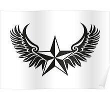 NAUTICAL STAR - Wings - Protection & Guidance SAILORS & TRAVELERS Poster