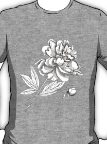 Peony.Sketch black and white T-Shirt