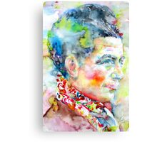SIMONE DE BEAUVOIR - watercolor portrait Canvas Print