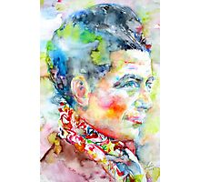SIMONE DE BEAUVOIR - watercolor portrait Photographic Print