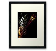 I Hate Fruit - Pineapple Framed Print