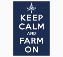 KEEP CALM and FARM ON - Sticker by Cowabunga